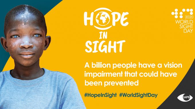 Poster Of Young Black Boy For World Sight Day Hope In Sight From IAPB