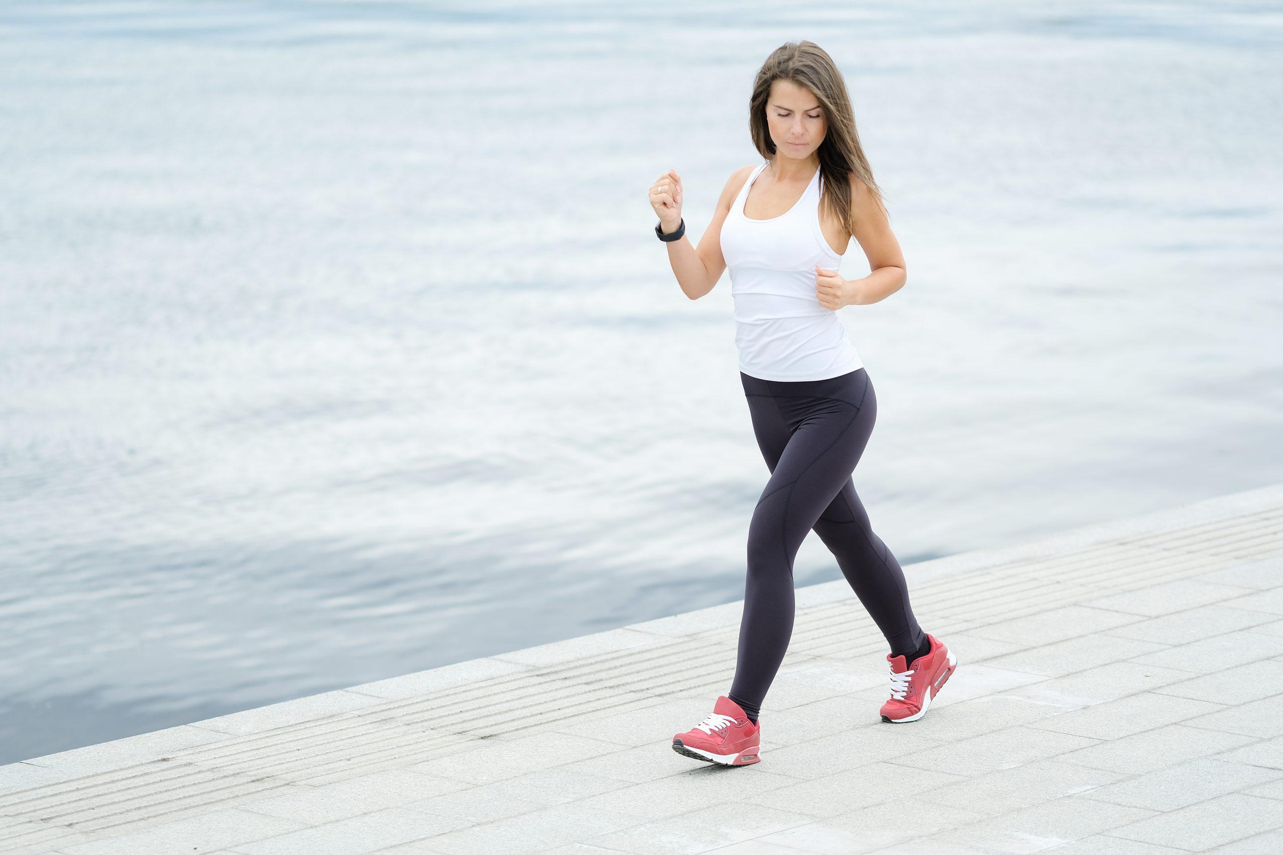 Woman doing light exercise to prevent kidney disease progression