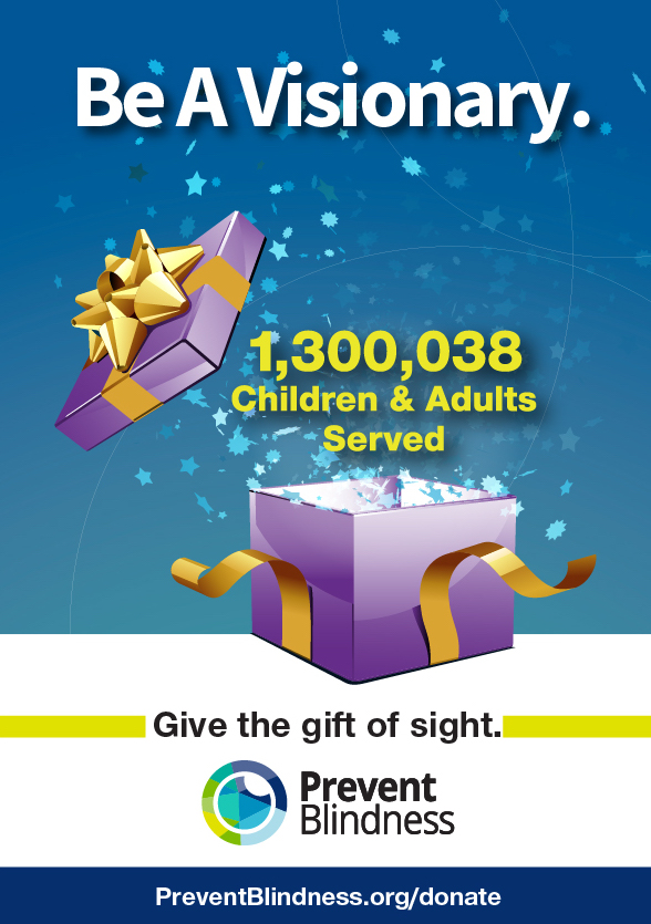 """""""Give the gift of sight"""" month in December by Prevent Blindness"""