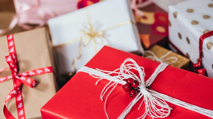 Close-up Of Presents Wrapped Up For Christmas