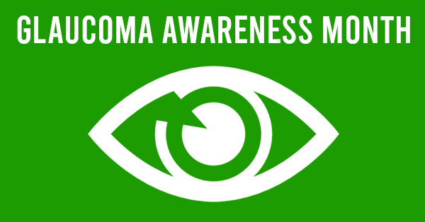 Eye With Glaucoma Awareness Month Written Above It